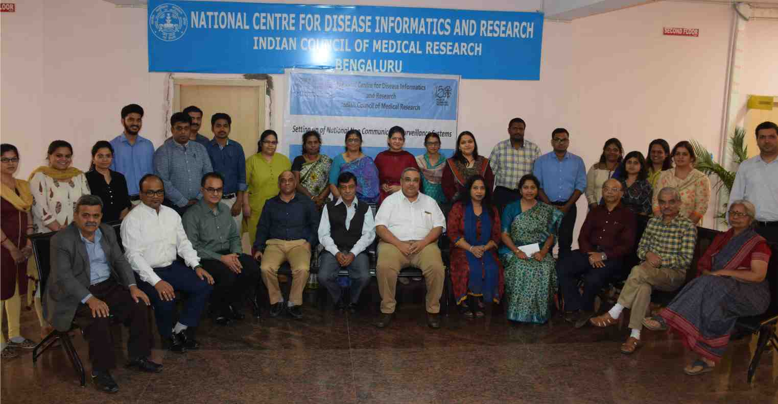 Brainstorming meeting of multisectoral experts on developing a framework for national level Non- Communicable Disease (NCD) Surveillance system on 28th March 2019, at NCDIR Bengaluru.