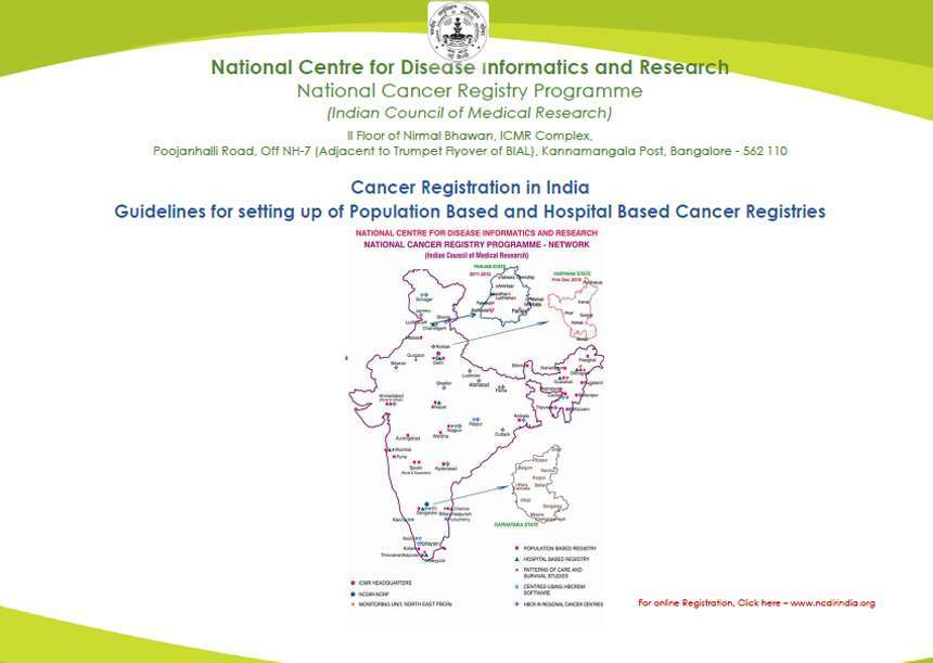 Guidelines for setting up of Population Based and Hospital Based Cancer Registries